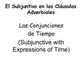 Subjunctive with Expressions of Time