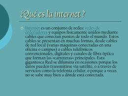 Presentación de internet..