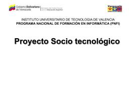 Proyecto Socio tecnológico I