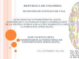 antecedentes etnohistóricos, socio-económicos y culturales para la
