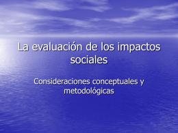 1. Avances conceptuales y metodológicos en el impacto
