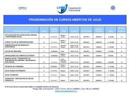 Programación Julio 2011