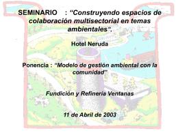 Modelo de gestión ambiental con la comunidad
