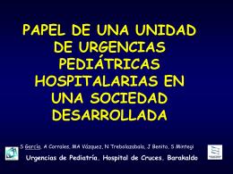 Urgencias pediátricas hospitalarias - EXTRANET