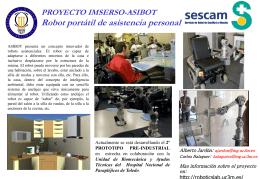 Poster asibot_IMSERSO - Asociación de Robótica UC3M
