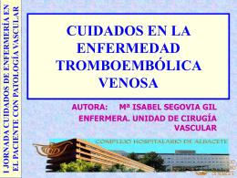 Cuidados en la enfermedad Tromboembólica Venosa.