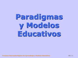 Paradigmas y modelos educativos I
