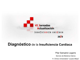 Diagnóstico de la insuficiencia cardiaca. P. Sampériz Legarre