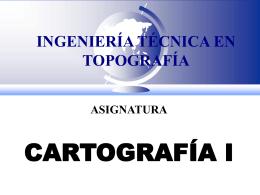 INGENIERÍA TÉCNICA EN TOPOGRAFÍA