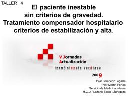 P. Sampériz Legarre y P. Martín Fortea El paciente inestable sin