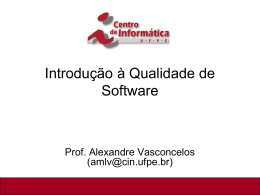 Introdução à Qualidade de Software