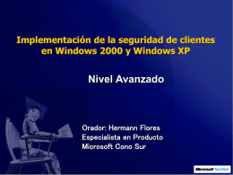 Implementación de seguridad para clientes Windows 2000 y