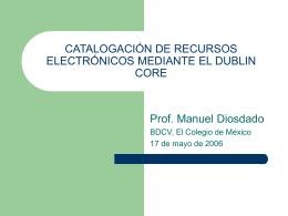 Dublin Core - El Colegio de México