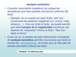 Isotopía semántica