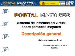 Presentación de Portal Mayores en PowerPoint