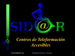 Centros de teleformación accesibles en PowerPoint