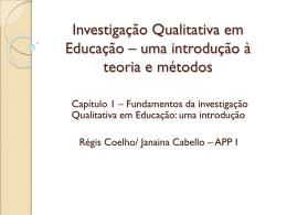 Investigação Qualitativa em Educação – uma introdução à teoria e