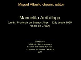 Arribillaga, Manuelita