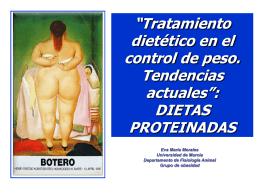 """""""Tratamiento dietético en el control de peso. Tendencias actuales"""
