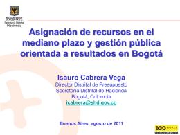 Isauro Cabrera Vega - Director Distrital de Presupuesto Bogota