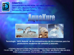 AquaKure - Dinatec Inc.