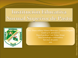 istitucio educativa municipal escuela normal pasto