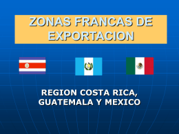 ZONAS FRANCAS DE EXPORTACION