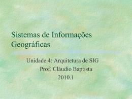 Arquitetura de SIG