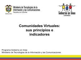 Presentación: Comunidades Virtuales: sus