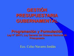 Ley General del Sistema Nacional de Presupuesto.