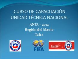 Diapositiva 1 - ANFA del Maule