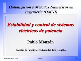 Tesis para obtener el título de Magister en Ingeniería Eléctrica