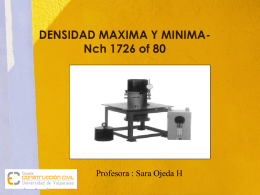 DENSIDAD MAXIMA Y MINIMA