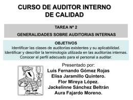 curso de auditor interno de calidad