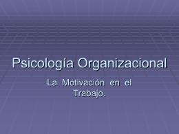 Psicología Organizacional 6
