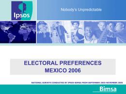 electoral preferences mexico 2006