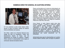 Nombran director general de auditoría Interna