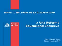 Presentación Director - Servicio Nacional de la Discapacidad
