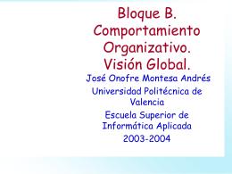 Comportamiento organizativo - Universidad Politécnica de Valencia