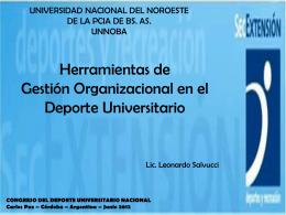 La Gestión Organizacional en el deporte universitario