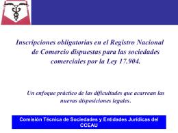 Comisión Técnica de Sociedades y Entidades Jurídicas del CCEAU