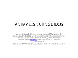 ANIMALES EXTINGUIDOS