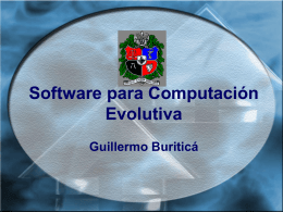 Software para Computación evolutiva