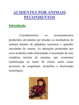 Animais Peçonhentos - Defesa Civil do Paraná