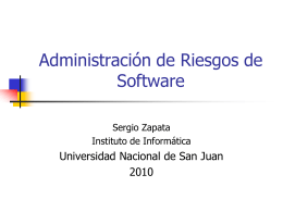 Administración de Riesgo de Software