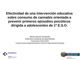 Mónica Alonso Fernández : Efectividad de una intervención