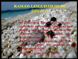 rasgos linguisticos de otuzco