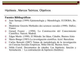 Hipótesis , Marcos Teóricos, Objetivos