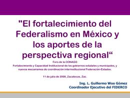 Mesa II, ponencia 2 - Foro Nacional sobre Federalismo y