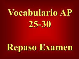 Vocabulario AP Repaso Examen 3